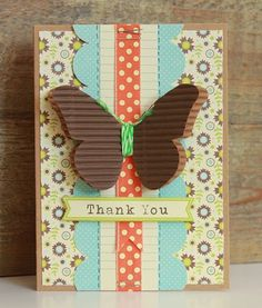 lovely layout, love the twine around the butterfly, handmade card