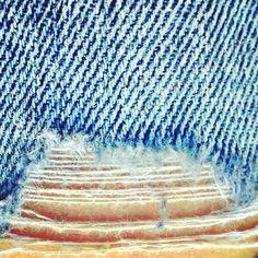 5x5 ripped jeans macro photography minimalist art on cardstock (boys room art, boys artwork, blue jeans, fine art photography) on Etsy, $16.00