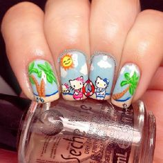 monstermommm hello kitty #nail #nails #nailart