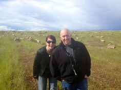 We've got sheep at KLOVE Radio! They ran from us...can't imagine why!