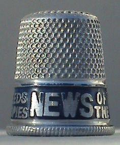 Vintage Sewing British Made Advertising Aluminium Thimble News of The World Newspaper £7 #FollowVintage