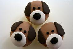 Puppy Dog Cupcakes by Three Sweet Treats via Flickr.