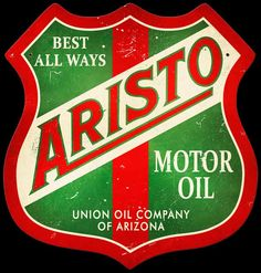 Click to find out more about Aristo Motor Oil Shield Sign