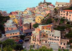Vernazza from the south, Cinque Terre Liguria Italy