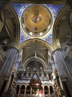 Church of the Holy Sepulchre, Jerusalem, Israel (Where Jesus is said have been crucified)