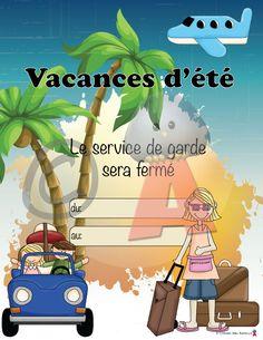 Vacances d'été Nursing Profession, Travel Nursing, Travel Inspiration, Parenting, Teacher, Messages, Holiday Decor, Grade 2, Sensory Play
