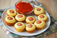 Skinny Points Recipes  » Easy Baked Mini Corn dogs