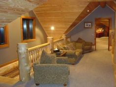 I want vaulted ceilings in my house so I can have a loft like this