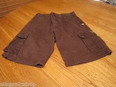 Boy's Hurley youth 30 14 casual shorts brown EUC surf skate brand