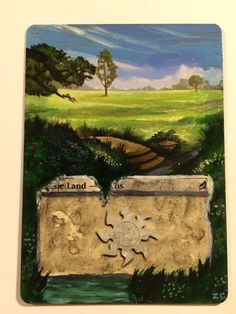Plains - Basic Land ~ MTG Alter ~ Hand-Painted Altered Art ~ Magic Card ~ RLMTG