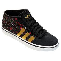 Tênis Adidas Adria Mid Preto e Dourado | Netshoes