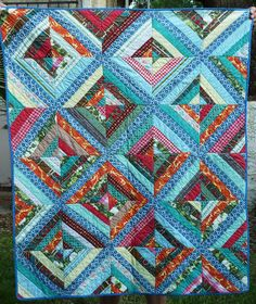 vintage string quilt from garage sale in Simi