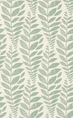 A flowing Batik leaf design with duck egg foliage on a white background. By Designers Guild, Odhni is from the Surabaya collection. Wallpaper Online, Wallpaper Samples, Fabric Wallpaper, Funky Wallpaper, Hallway Wallpaper, Metallic Wallpaper, Wallpaper Ideas, Pattern Wallpaper, Designers Guild Wallpaper
