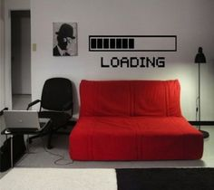 Gadget Flow loading mark wall decals- game room decor