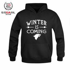 Best price on Winter Is Coming Hoodies //    Price: $ 34.49  & Free Shipping Worldwide //    See details here: http://sevenkingdomsmart.com/product/ssearl-games-of-thrones-winter-is-coming-fashion-hoodies-for-men-sport-suit-personalized-custom-sweatshirt-size-m3xl/ //    #gameofthrones #gameofthronesfamily #gameofthroneshbo #gameofthronesfanart #gameofthronesfan #gameofthronesmemes #gameofthronesfans #gameofthronesmarathon #gameofthronestour #gameofthronesaddict