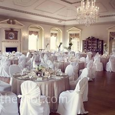 reception...very similar..except the sashes on the chairs are choclate brown with diff centerpieces!