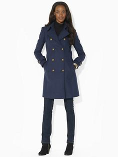 Wool-Blend Pea Coat - Long Coats Coats - Ralph Lauren UK