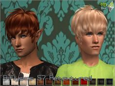 BFlysims 57 Retextured Sims 2 Hair, The Sims 2, My Boys, Female, Cas, Blond