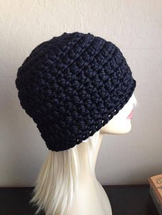 Hubby's Chunky Hat - Free unisex crochet pattern  by Brooke Olson. Super chunky yarn, 9mm hook.