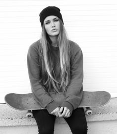 skater girl style, comfortable and covering