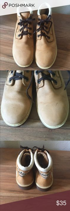 Absolutely adorable, well loved Timberlands Adorable but well loved Timberland boots. Structurally great but have a few cosmetic marks on them. Please see photos. Still in good condition with miles left. Timberland Shoes Lace Up Boots