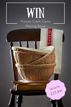 Win a Mason Cash Cane Mixing Bowl Worth £23.99! Simply pin this pin for the…