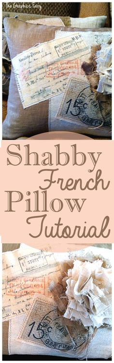 Shabby French Pillow Tutorial - The Graphics Fairy. I love this Shabby Chic Sewing Project! Such s lovely DIY Decorating idea!