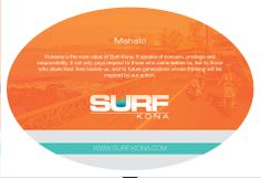 www.surf-kona.com new post card. Printed on a ovel shape and they look like little surf boards.