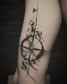 Compass ink - 50+ Awesome Compass Tattoo Designs  <3 <3