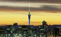 The elevator at the Sky Tower in Auckland, New Zealand, takes just 40 seconds to reach the observation level, 610 feet in the air. (Steve Vidler/SuperStock )