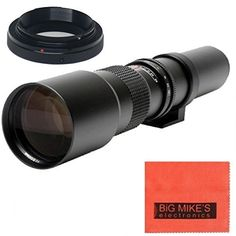 High-Power 500mm f/8 Manual Telephoto Lens for Nikon D90, D3000, D3100, D3200, D3300, D5000, D5100, D5200, D5300, D5500, D7000, D7100, D7200, D300, D300s, D600, D610, D700, D750, D800, D800e, D810, D810a DSLR Big Mike's http://www.amazon.com/dp/B00KME6REC/ref=cm_sw_r_pi_dp_POzYvb111ZRPY
