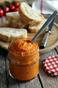 Pomazánka z pečených paprik (veggie) Peanut Butter, Veggies, Sugar, Food, Fitness, Instagram, Recipes, Red Peppers, Vegetable Recipes