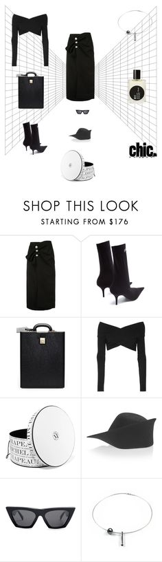 """""""BLACK"""" by statuslusso ❤ liked on Polyvore featuring Balenciaga, Opening Ceremony, Maison Michel, Jacquemus, CÉLINE and Comme des Garçons"""