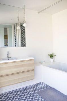 Salle de bain appartement Bruxellois - Alizee Dassonville Architecture