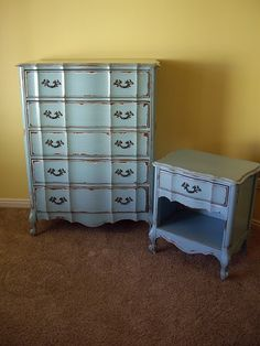 Beautiful refinished dresser- pretty sure that is the same night table i have. i love this too..soo pretty