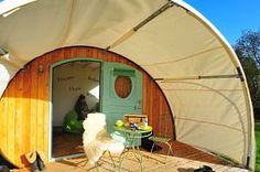 E-den glamping cabins at Middlewick Holiday Cottages Glastonbury