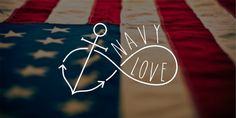 Navy Love Vinyl Decal Window Decal Car Decal Laptop by CGAINSTUDIO