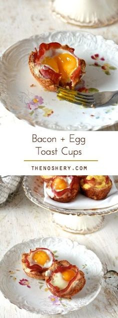 Bacon & Egg Toast Cups   TheNoshery.com - @TheNoshery