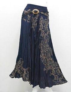 Saia AB11 HIPPIE BOÊMIO Maxi Gypsy Casual Coco Fivela Cotton Woman   Roupas, calçados e acessórios, Roupas femininas, Saias   eBay!