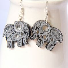 Oh, do order these from her, or make up your own elephant design to quill. So cute!