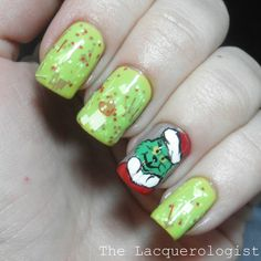 THE GRINCH nail art! Pinned for Kidfolio, the parenting app that makes sharing a snap. Download it free from your app store today. kidfol.io