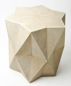 Star Side Table in Shagreen and Bone