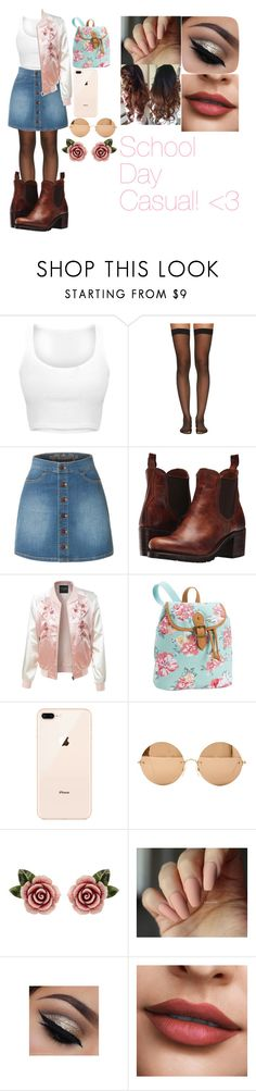 """""""School Day Casual! <3"""" by lauren-paul-sets ❤ liked on Polyvore featuring Wolford, LE3NO, Frye, PBteen, Victoria Beckham, Dolce&Gabbana, casual, school and schoolsucks"""