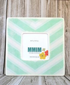 Mint Green Chevron Picture Frame by Mmim on Etsy, $17.00