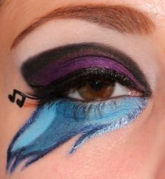 My Little Pony Inspired Makeup : DJ Pon3 - Luhivy's favorite things