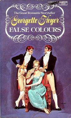 Allan Kass, Illustrator of Book Covers: Georgette Heyer: False Colours Regency Romance Novels, Historical Romance Books, Good Books, Books To Read, Georgette Heyer, Beautiful Book Covers, Wow Art, Classic Books, Book Authors
