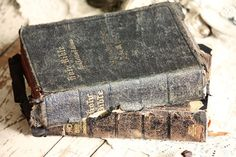 I want to carry a bible down the aisle with me. I have an old leather 1832 New Testament that may be a contender.