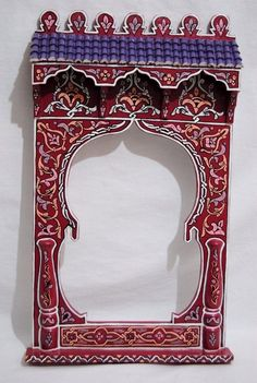 Wooden mirror handpainted by craftman of Chefchaouen Moroccan Mirror, Moroccan Decor, Wood Mirror, Wall Decor, Wall Art, Wooden Frames, Farmhouse Decor, Tube, Christmas Decorations