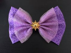 Rapunzel Tangled Themed Hair Bow Barrette by HairBowsbyGina
