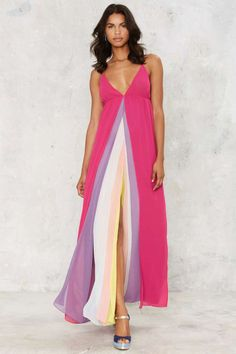 Nasty Gal Hazy Shades of Love Maxi Dress - Nasty Gal Collection | Going Out | Midi + Maxi | Dresses | Rainbow Riot | All Party